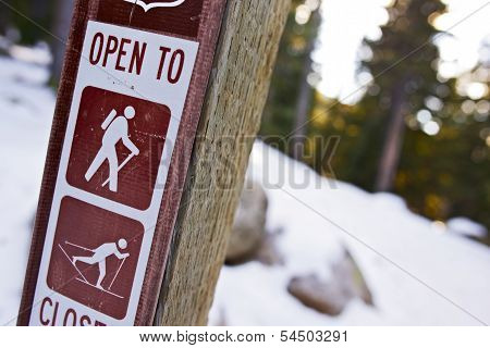 Trail Sign In Colorado