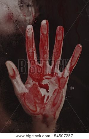 Human Hand With Blood.