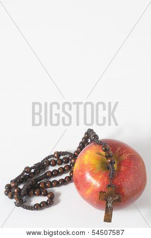 Bible Eva's Sin Red Apple