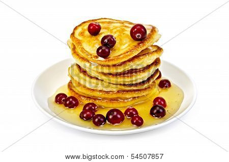 Flapjacks With Cranberry And Honey