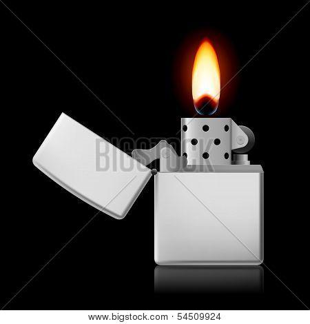Open metal lighter