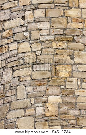 Background of stones on the wall