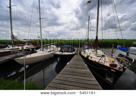 Sailboats In Durgerdam