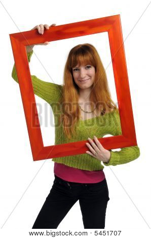 Young Girl With Frame