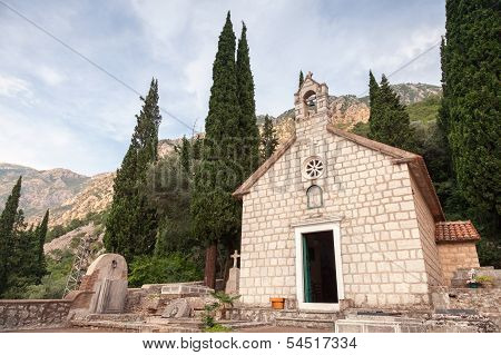 Ancient Orthodox Monastery Banja. Risan, Montenegro