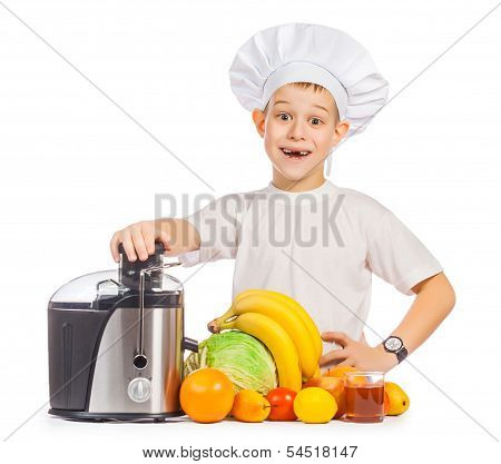 happy Scullion is pressing the juice from the fruit