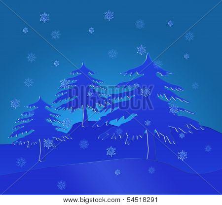 Snow spruce.