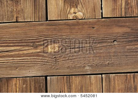 Old Resinous Wooden Planks