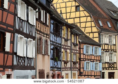 Half timbered houses of Colmar Alsace France