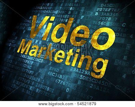 Finance concept: Video Marketing on digital background
