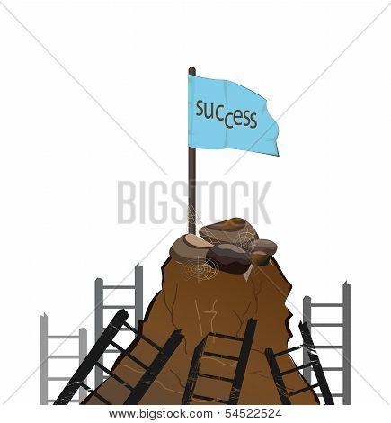 Flag Pole On The Mountain