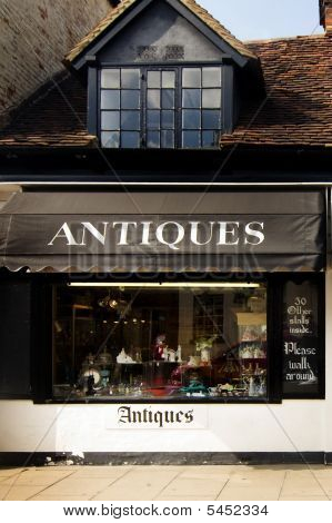 Antique shop in Stratford Upon Avon, England