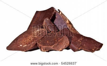Pile Of Delicious Black Chocolate