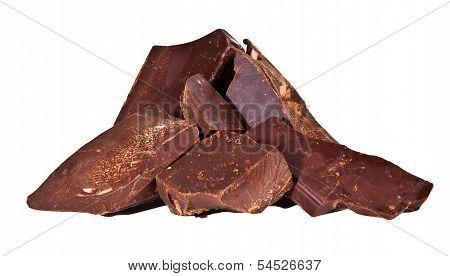 Pile Of Delicious Black Chocolate