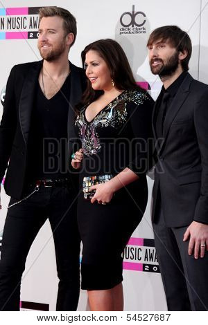 LOS ANGELES - NOV 24:  Lady Antebellum at the 2013 American Music Awards Arrivals at Nokia Theater on November 24, 2013 in Los Angeles, CA