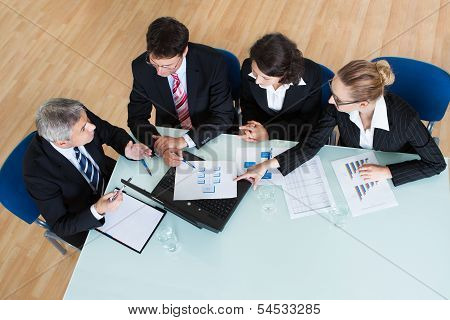 Business Meeting For Statistical Analysis
