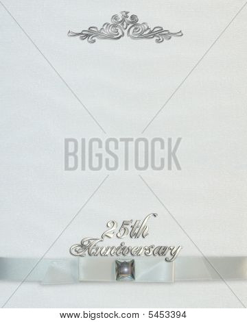 25Th Wedding Anniversary Invitation Background Stock photo