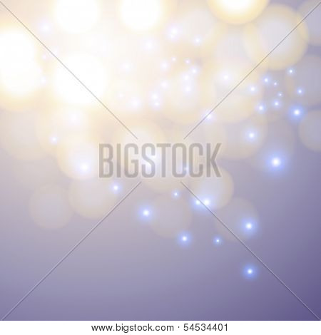Purple Christmas background. Abstract background with bokeh defocused lights