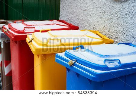 Colorful Trash Cans