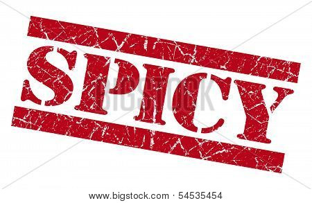 Spicy Red Grunge Stamp