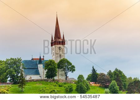Old Village Church In Slovakia