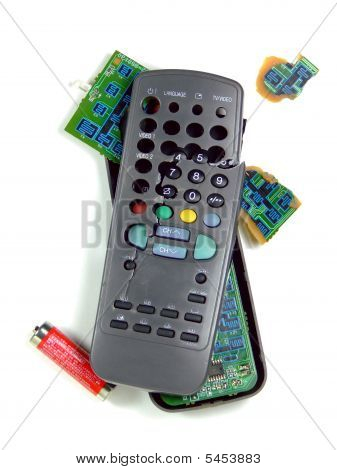 Smashed TV Remote