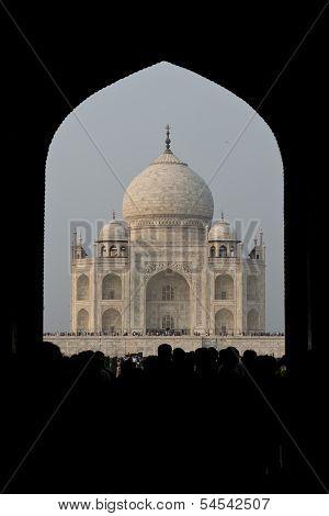 Taj Mahal Seen From An Arch
