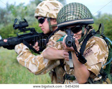 Soldiers In Action