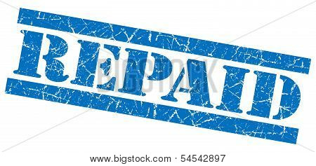Repaid Blue Grunge Stamp