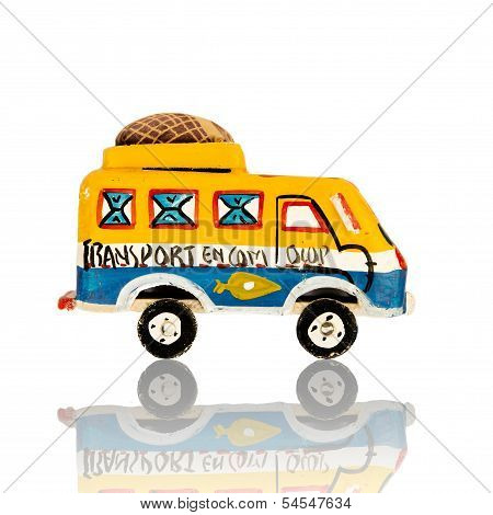 African toy - bush taxi isolated, Senegal, Africa