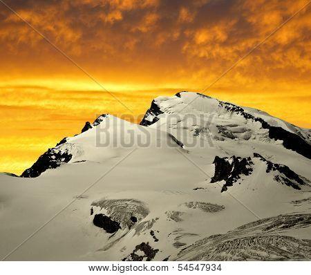Stradlhorn in the sunset - Swiss Alps