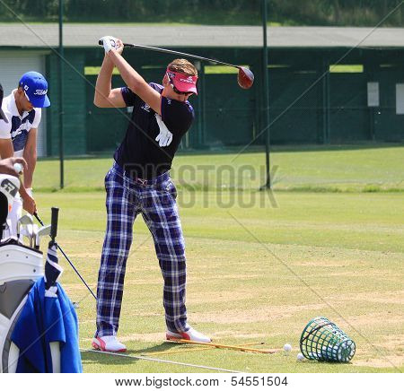 Ian Poulter at the Golf French Open 2013