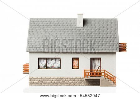 simple house, isolated on white