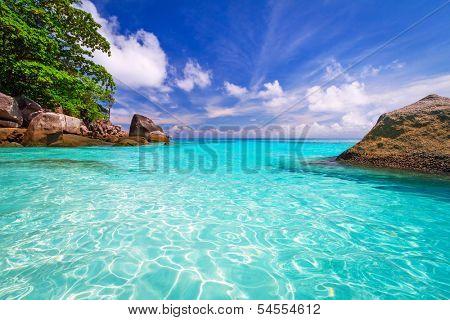 Paradise lagoon of Similan islands in Thailand