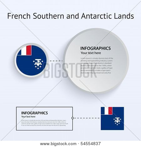 French Southern and Antarctic Lands Country Set of Banners.