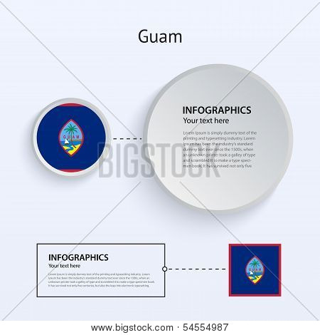 Guam Country Set of Banners.