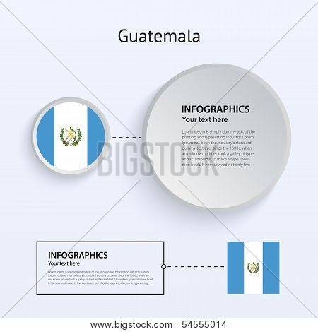 Guatemala Country Set of Banners.