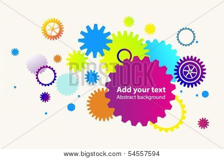 Abstract gears bright illustrative background