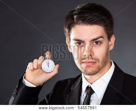 Business Man With Stop Watch