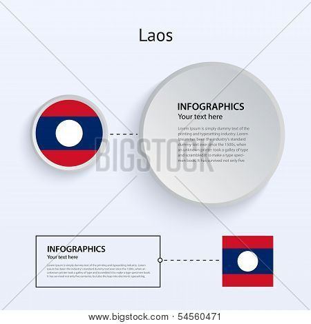 Laos Country Set of Banners.