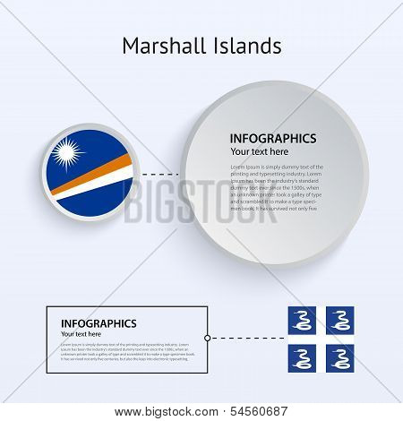 Marshall Islands Country Set of Banners.
