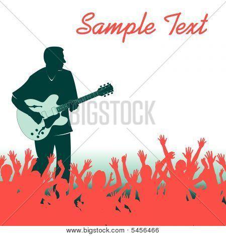Multitud hombre Guitarra