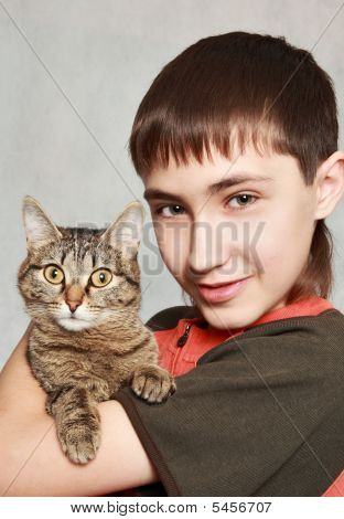 Boy And Pet