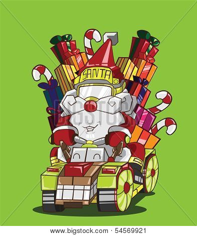 Gokart reindeer style. Santa Claus delivery the gifts