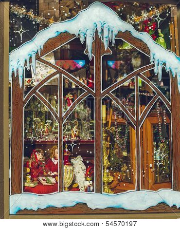 Christmas-themed Store Window