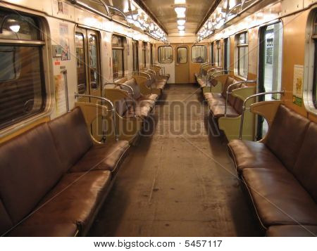 Interior Of Moscow Subway Car (built In 1973)