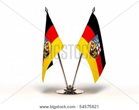 Miniature Flag Of Saarland