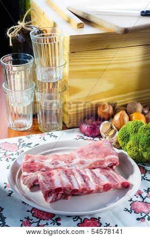 Pork Ribs With Vegetable