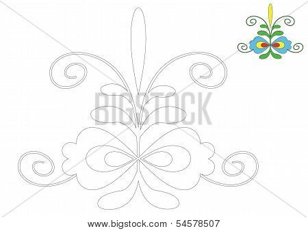 The Moravia ornament _coloring_4