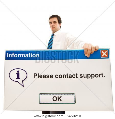 Friendly Businessman With Computer Message